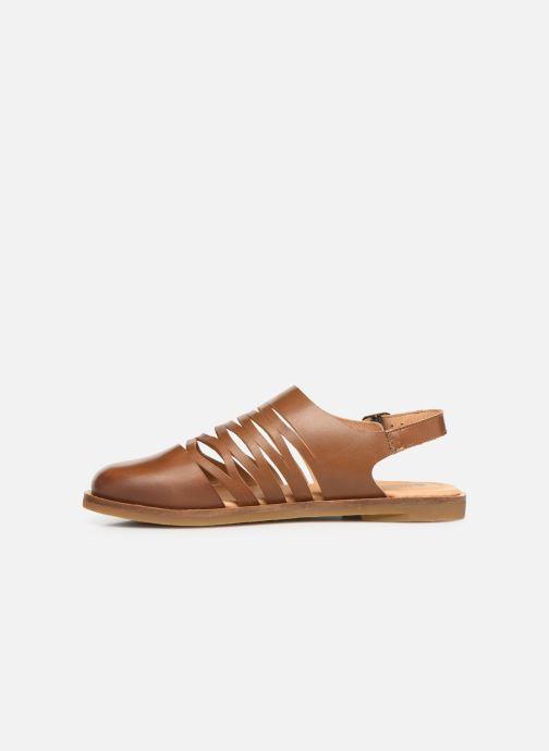 Sandales et nu-pieds El Naturalista Tulip N5184 Marron vue face