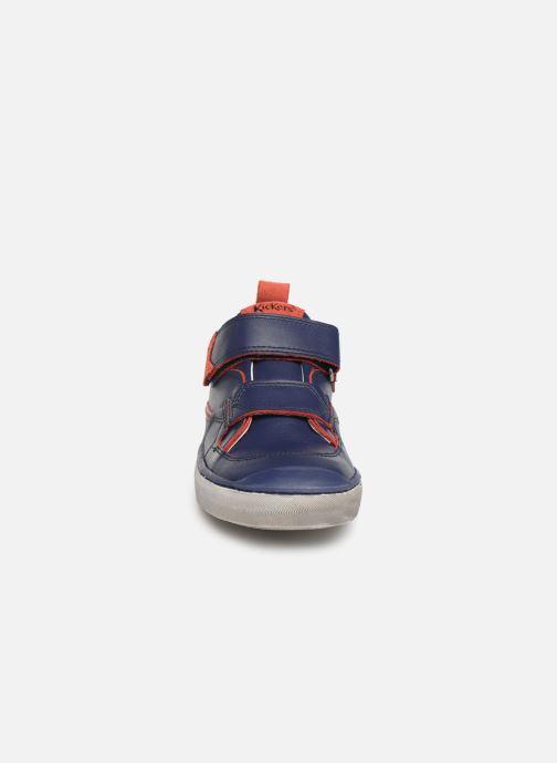 Baskets Kickers Iroad Bleu vue portées chaussures