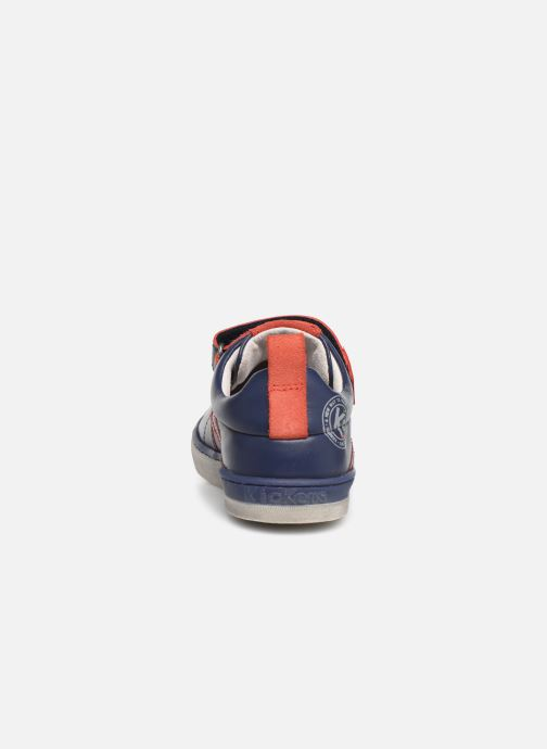 Baskets Kickers Iroad Bleu vue droite