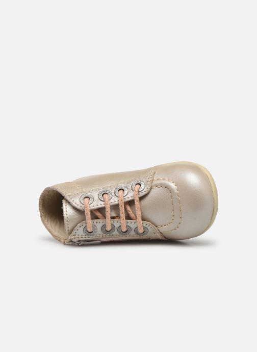 Boots en enkellaarsjes Kickers Bahalor Zilver links