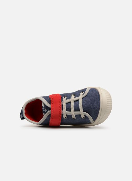 Sneakers Kickers Zhou Blauw links