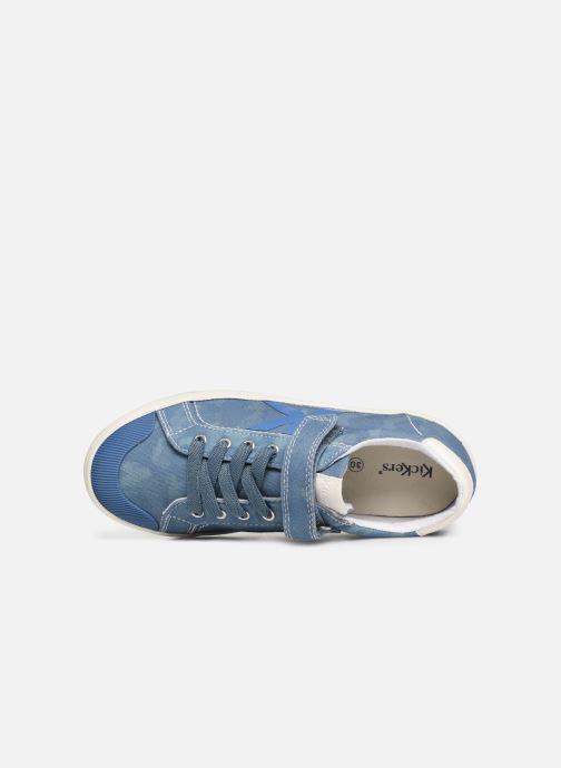 Sneakers Kickers Gody Blauw links
