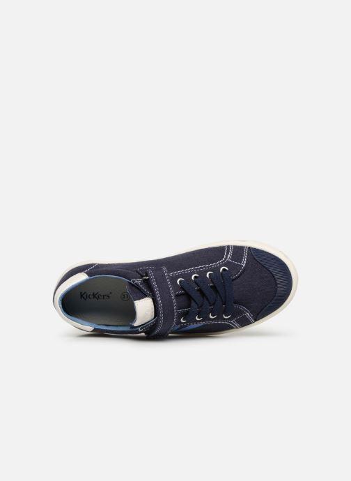 Sneakers Kickers Gody Azzurro immagine sinistra