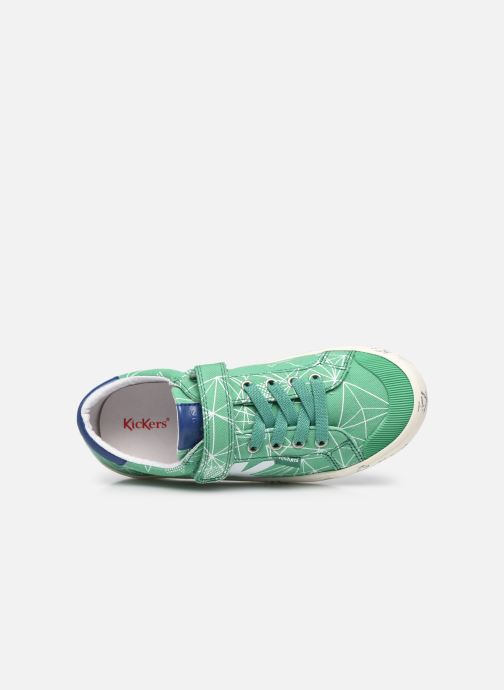 Sneakers Kickers Gody Verde immagine sinistra
