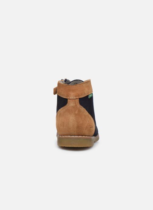 Bottines et boots Kickers Kouklegend Bleu vue droite