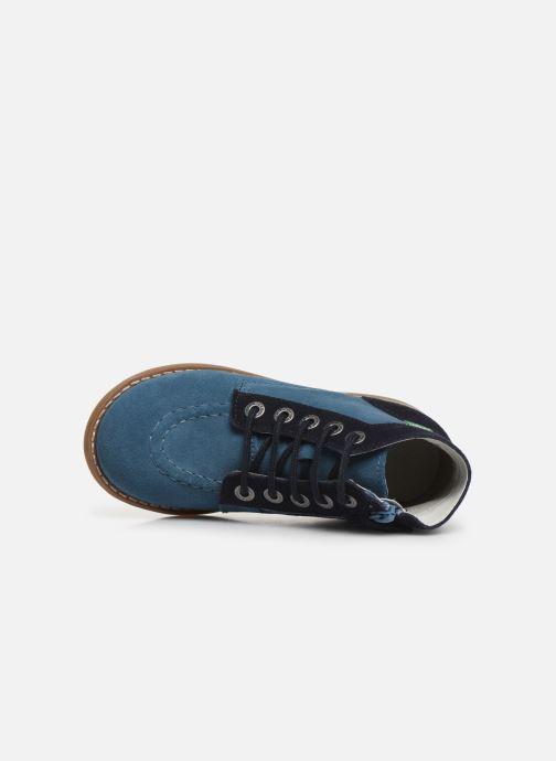 Bottines et boots Kickers Kouklegend Bleu vue gauche