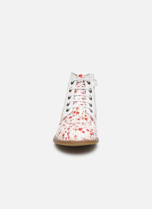Bottines et boots Kickers Kouklegend Blanc vue portées chaussures