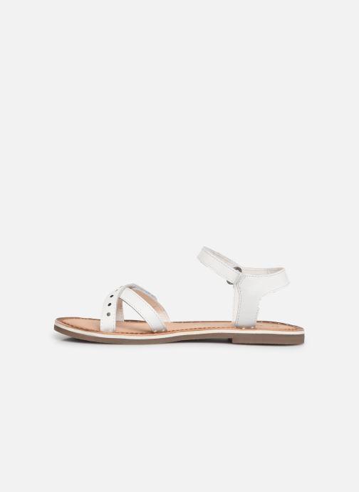 Sandales et nu-pieds Kickers Didonc Blanc vue face