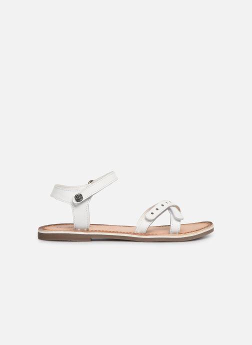 Sandales et nu-pieds Kickers Didonc Blanc vue derrière