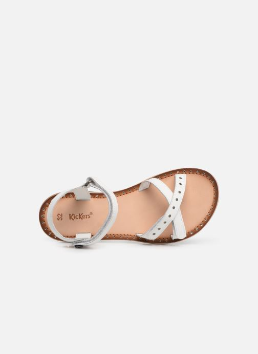 Sandales et nu-pieds Kickers Didonc Blanc vue gauche