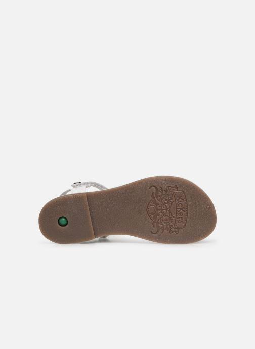 Sandales et nu-pieds Kickers Didonc Blanc vue haut