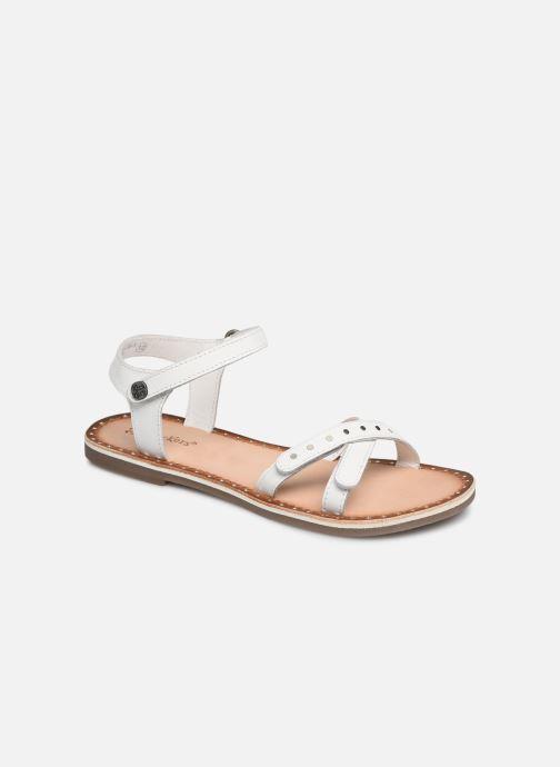 Sandales et nu-pieds Kickers Didonc Blanc vue détail/paire