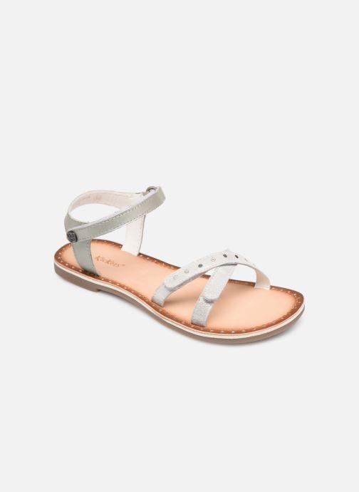 Sandales et nu-pieds Kickers Didonc Argent vue détail/paire