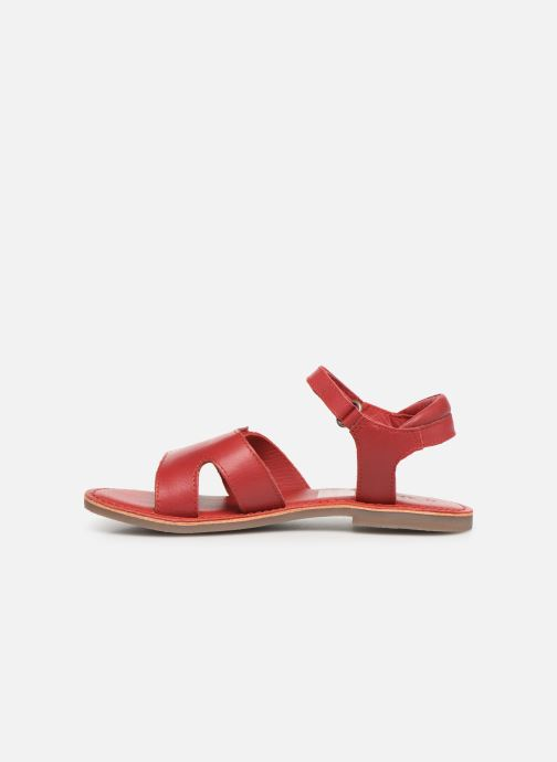 Sandalen Kickers Dimoi rot ansicht von vorne