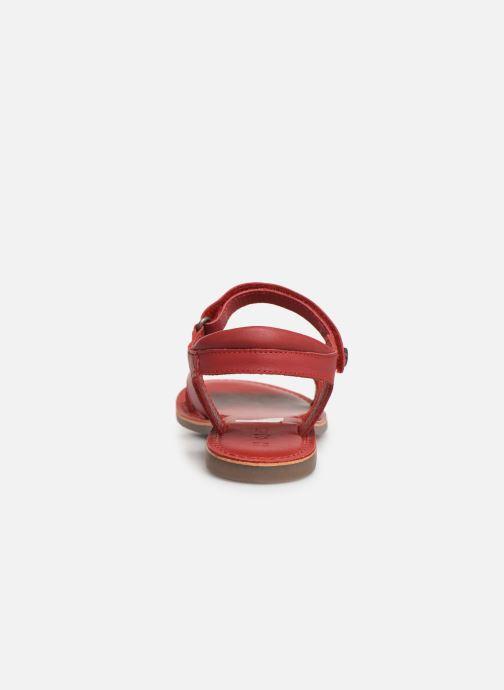Sandalen Kickers Dimoi rot ansicht von rechts