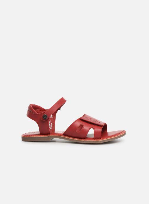 Sandalen Kickers Dimoi rot ansicht von hinten