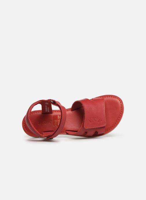 Sandalen Kickers Dimoi rot ansicht von links
