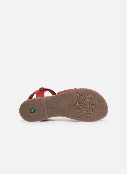 Sandales et nu-pieds Kickers Dimoi Rouge vue haut