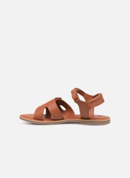 Sandales et nu-pieds Kickers Dimoi Marron vue face