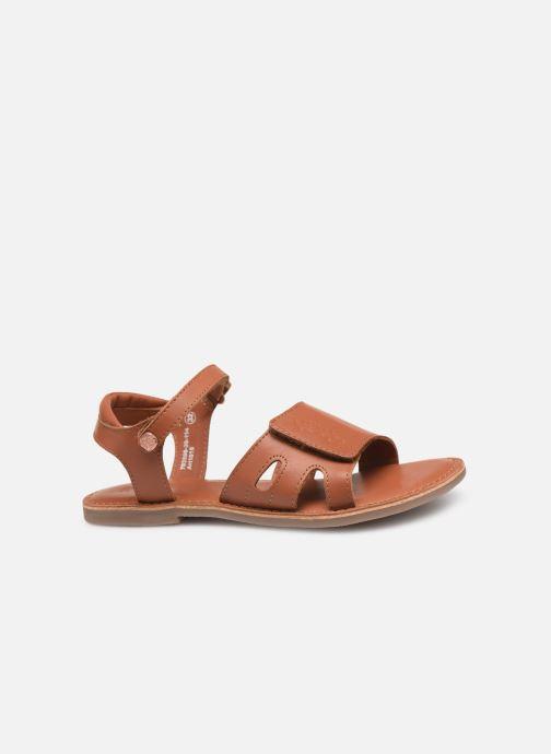 Sandales et nu-pieds Kickers Dimoi Marron vue derrière