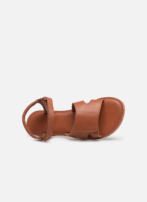 Sandalen Kickers Dimoi Bruin links