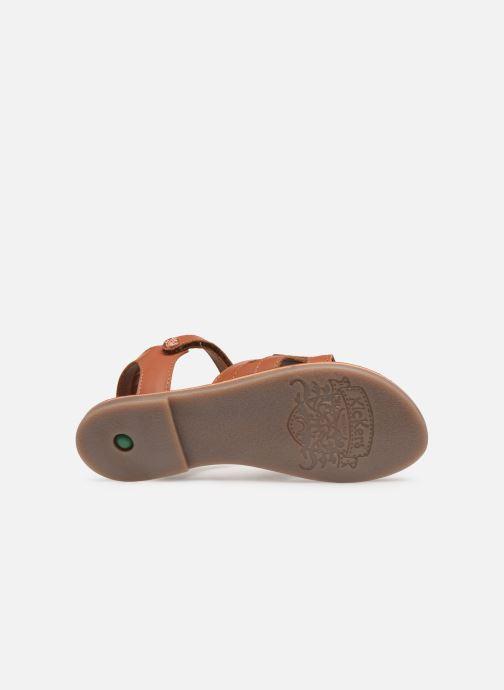 Sandaler Kickers Dimoi Brun se foroven
