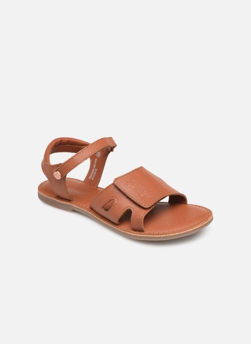 Sandaler Kickers Dimoi Brun detaljeret billede af skoene