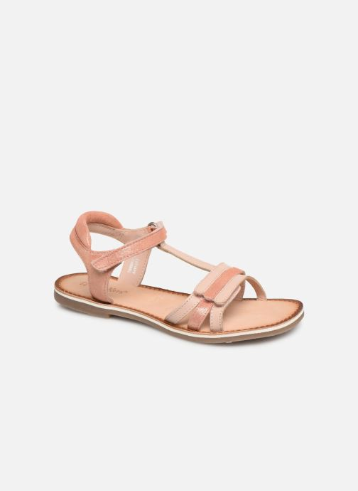 Sandales et nu-pieds Kickers Diamanto Rose vue détail/paire