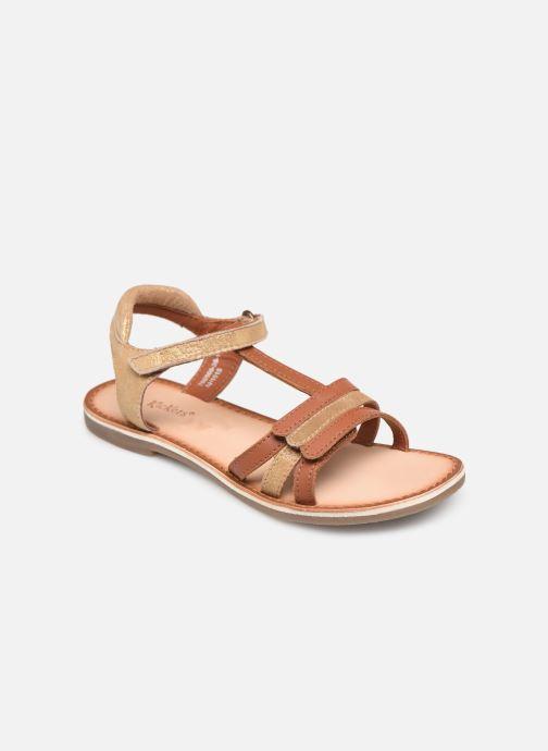 Sandales et nu-pieds Kickers Diamanto Marron vue détail/paire