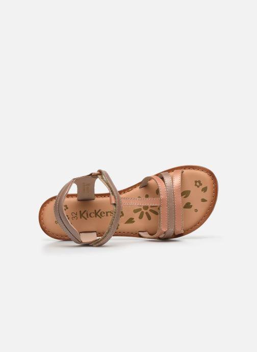 Sandales et nu-pieds Kickers Diamanto Rose vue gauche