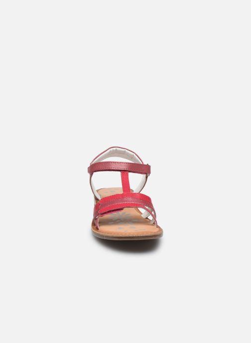 Sandales et nu-pieds Kickers Diamanto Rose vue portées chaussures