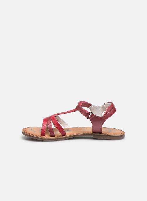 Sandales et nu-pieds Kickers Diamanto Rose vue face