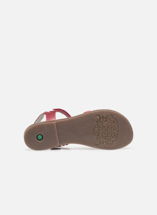 Sandales et nu-pieds Kickers Diamanto Rose vue haut