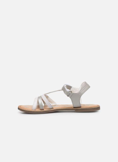 Sandales et nu-pieds Kickers Diamanto Blanc vue face