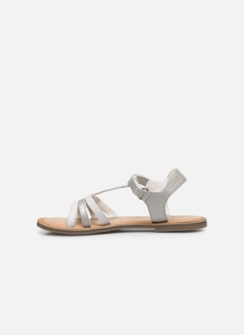 Sandalias Kickers Diamanto Blanco vista de frente