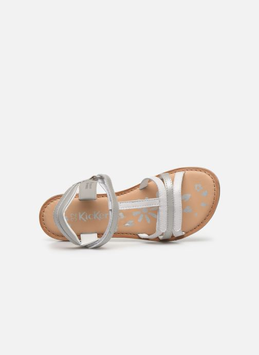 Sandalias Kickers Diamanto Blanco vista lateral izquierda