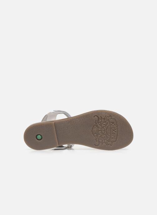 Sandales et nu-pieds Kickers Diamanto Blanc vue haut