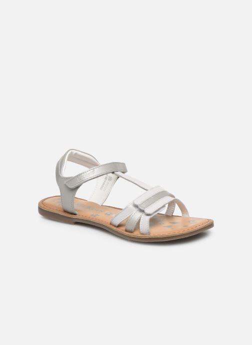 Sandales et nu-pieds Kickers Diamanto Blanc vue détail/paire