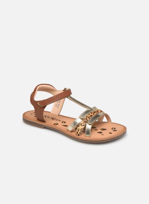 Sandalen Kickers Diamanto Goud en brons detail