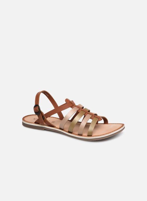 Sandaler Kickers Dixon Brun detaljeret billede af skoene