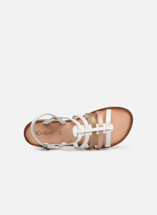Sandales et nu-pieds Kickers Dixon Blanc vue gauche