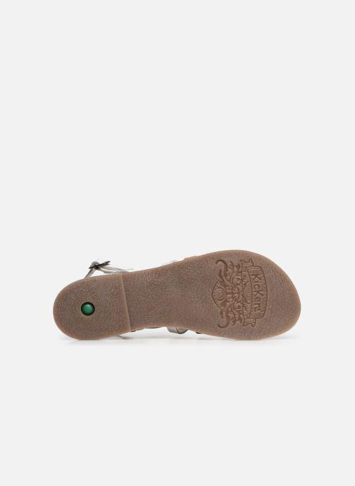 Sandales et nu-pieds Kickers Dixon Blanc vue haut