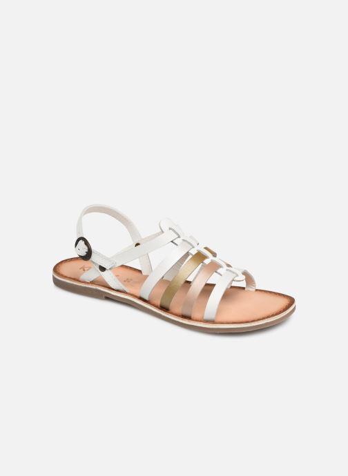 Sandales et nu-pieds Kickers Dixon Blanc vue détail/paire