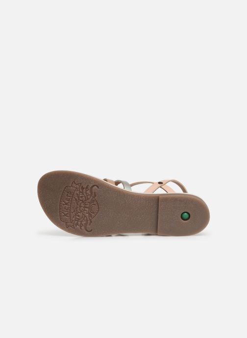 Sandales et nu-pieds Kickers Dixon Rose vue haut