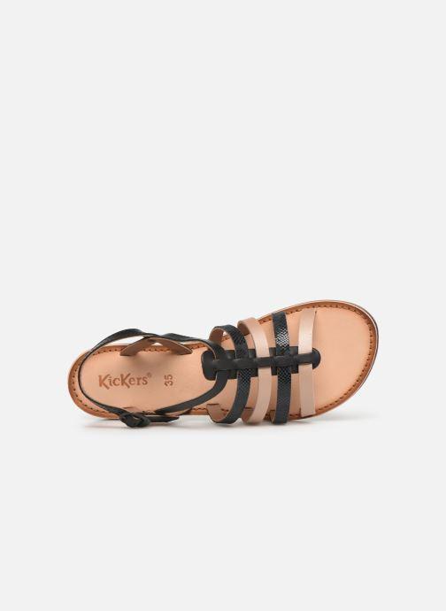 Sandales et nu-pieds Kickers Dixon Noir vue gauche