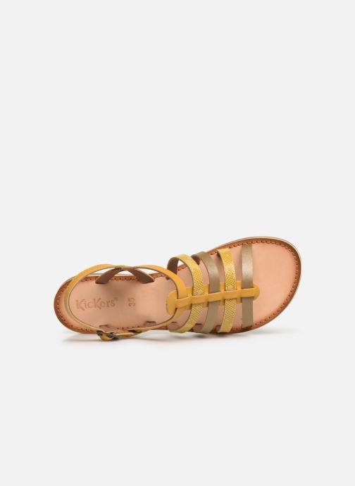 Sandales et nu-pieds Kickers Dixon Jaune vue gauche