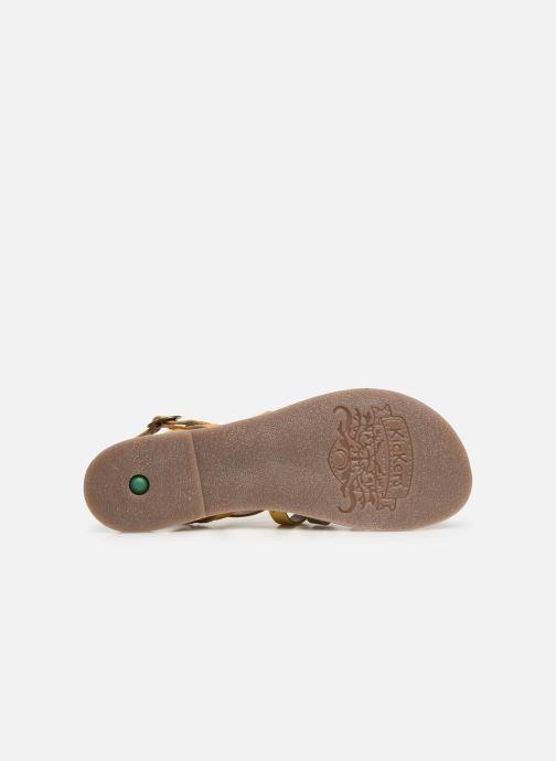 Sandales et nu-pieds Kickers Dixon Jaune vue haut