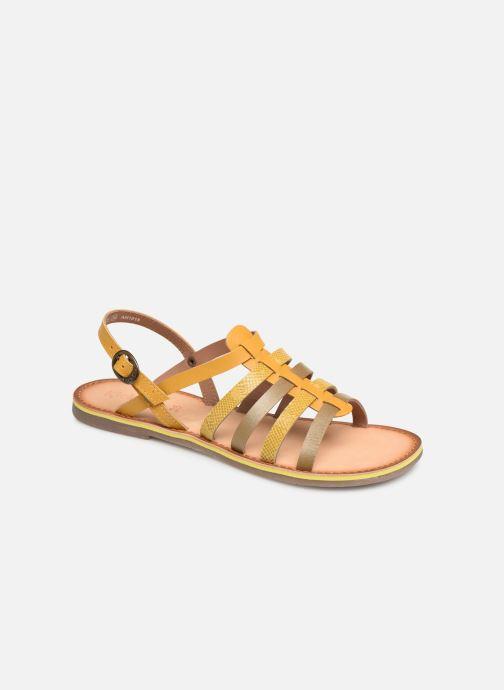 Sandales et nu-pieds Kickers Dixon Jaune vue détail/paire