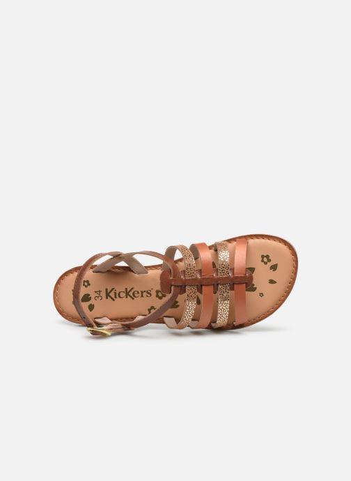 Sandali e scarpe aperte Kickers Dixon Marrone immagine sinistra