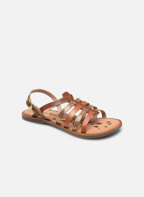 Sandales et nu-pieds Kickers Dixon Marron vue détail/paire